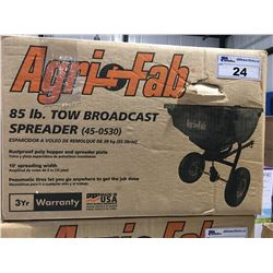 AGRI-FAB 85 LB BROADCAST SPREADER- NEW IN BOX
