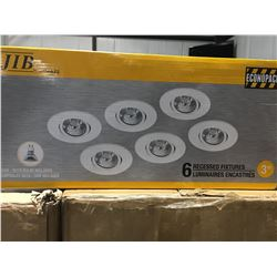 """JIB ECONOPACK OF 6 RECESSED FIXTURES-WHITE-3"""""""