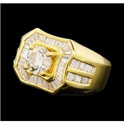 2.79 ctw Diamond Ring - 18KT Yellow Gold