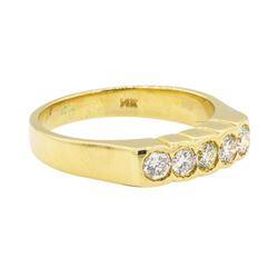 0.52 ctw Diamond Ring - 14KT Yellow Gold