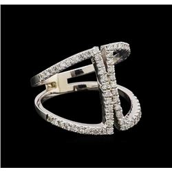 0.62 ctw Diamond Ring - 14KT White Gold