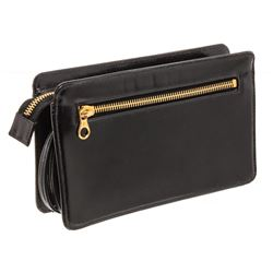 Chanel Vintage Black Patent Leather Wristlet Clutch Bag