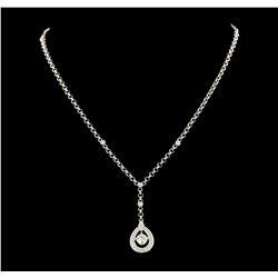 1.08 ctw Diamond Necklace - 18KT White Gold
