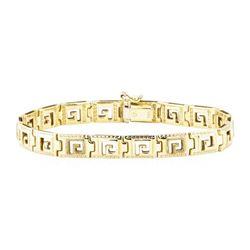 Greek Key Bracelet - 14KT Yellow Gold