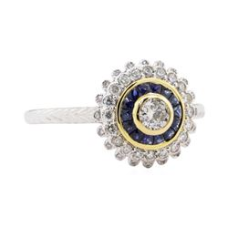 0.44 ctw Diamond Ring - 18KT Two-Tone Gold