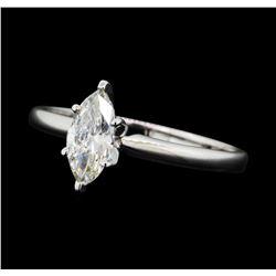 0.53 ctw Diamond Wedding Ring - 14KT White Gold