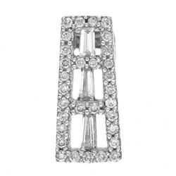14k White Gold  0.39CTW Diamond Pendant