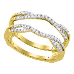 1/3 CTW Round Diamond Curved Wrap Ring 14kt Yellow Gold - REF-41F9M