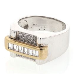 0.72 CTW Diamond Ring 14K 2Tone Gold - REF-93X3R