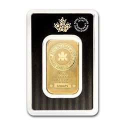 Genuine 1 oz 0.9999 Fine Gold Bar - Royal Canadian Mint