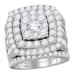 6 CTW Round Diamond Bridal Wedding Engagement Ring 14kt White Gold - REF-479X9T