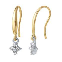 0.23 CTW Diamond Earrings 14K 2Tone Rose Gold - REF-24X3R