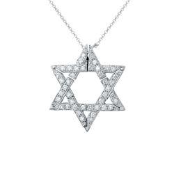0.97 CTW Diamond Necklace 14K White Gold - REF-72W8H