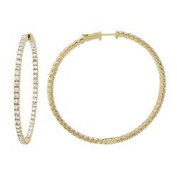 3.84 CTW Diamond Earrings 14K Yellow Gold - REF-268Y5X