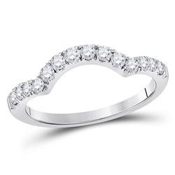 1/2 CTW Round Diamond Wrap Ring 14kt White Gold - REF-38R4H