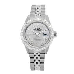 Rolex Pre-owned 26mm Womens Custom Grey Stainless Steel - REF-460H4N