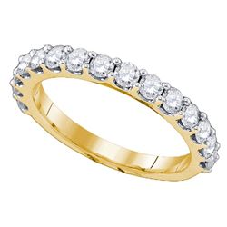 1 CTW Round Diamond Wedding Anniversary Ring 10kt Yellow Gold - REF-47M9A