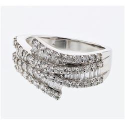 1.33 CTW Diamond Ring 18K White Gold - REF-133M7F