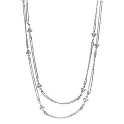 0.94 CTW Diamond Necklace 14K White Gold - REF-99F3N