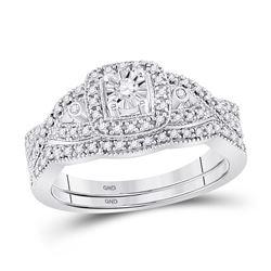 1/4 CTW Round Diamond Twist Bridal Wedding Engagement Ring 10kt White Gold - REF-33Y6X