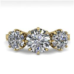 2 ctw Past Present Future Certified VS/SI Diamond Ring 18k Yellow Gold