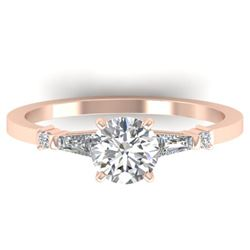1.04 ctw Certified VS/SI Diamond Solitaire Ring 14k Rose Gold