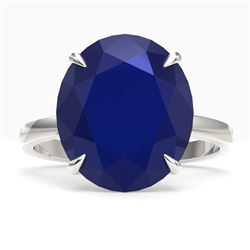 9 ctw Sapphire Designer Solitaire Engagment Ring 18k White Gold