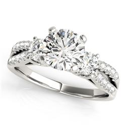 1.25 ctw VS/SI Diamond 3 Stone Ring 14k White Gold