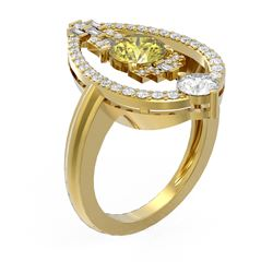 2.12 ctw Fancy Yellow Diamond Ring 18K Yellow Gold