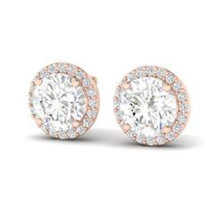 3.50 ctw VS/SI Diamond Certified Earrings 14K Rose Gold