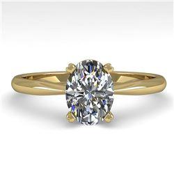 1.01 ctw Oval Cut VS/SI Diamond Engagment Designer Ring 14k Yellow Gold