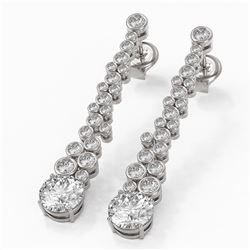 2.5 ctw Diamond Designer Earrings 18K White Gold