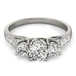 1.33 ctw VS/SI Diamond 3 Stone Ring 14k White Gold