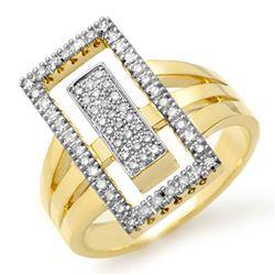 0.45 ctw Certified VS/SI Diamond Ring 10k Yellow Gold