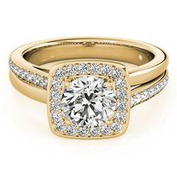 1.33 ctw Certified VS/SI Diamond Halo Ring 18k Yellow Gold