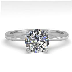 1.01 ctw VS/SI Diamond Engagment Designer Ring 14k White Gold