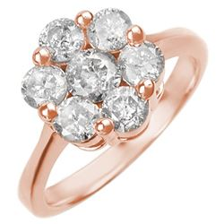1.50 ctw Certified VS/SI Diamond Ring 14k Rose Gold