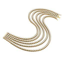 20 ctw Certified SI/I Diamond 2 Prong Bracelet 18K Yellow Gold