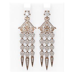 4 ctw Diamond Earrings 18K Rose Gold