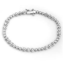 1.25 ctw Certified VS/SI Diamond Bracelet 10k White Gold