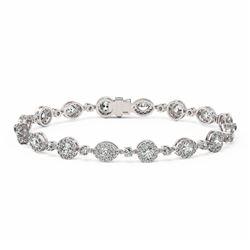 8 ctw Marquise Cut Diamond Designer Bracelet 18K White Gold