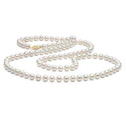 "White Freshwater Pearl Rope, Choose 35 or 52""es, 7.5-8.0mm"