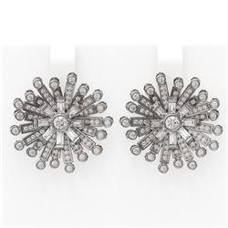 5 ctw Diamond Earrings 18K White Gold