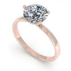 1.51 ctw Certified VS/SI Diamond Engagment Ring Martini 18k Rose Gold