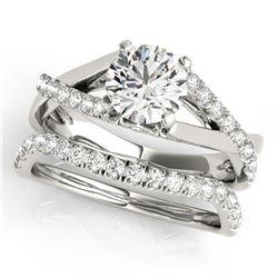 1.06 ctw Certified VS/SI Diamond 2pc Wedding Set 14k White Gold