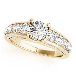 3.05 ctw Certified VS/SI Diamond Ring 14k Yellow Gold