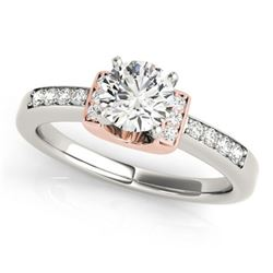 0.61 ctw Certified VS/SI Diamond Solitaire Ring 18k 2Tone Gold