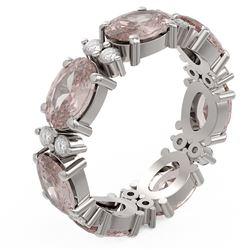 5.82 ctw Morganite Ring 18K White Gold