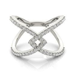 0.60 ctw Certified VS/SI Diamond Fashion Ring 18k White Gold