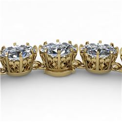 40 ctw Princess SI Certified Diamond Necklace 14k Yellow Gold